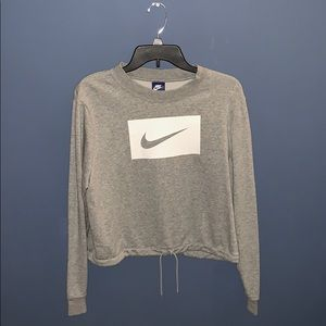 Cropped scrunched waist Nike Sweater